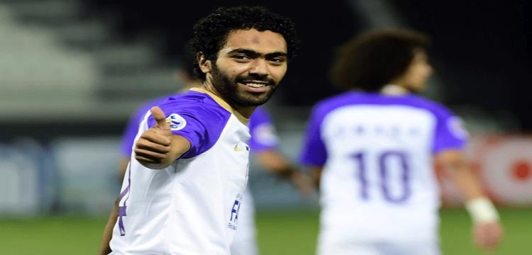 حسين الشحات بعد تسجيل الهدف