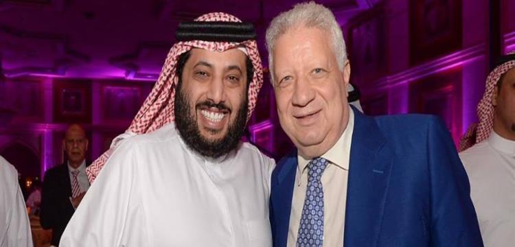 مرتضى منصور مع تركي آل الشيخ