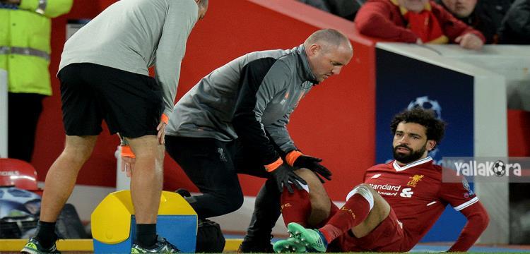 محمد صلاح لحظة إصابته أمام مانشستر سيتي