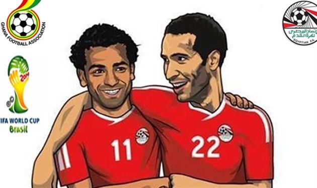 تريكة، صلاح، غانا، مصر، كأس العالم