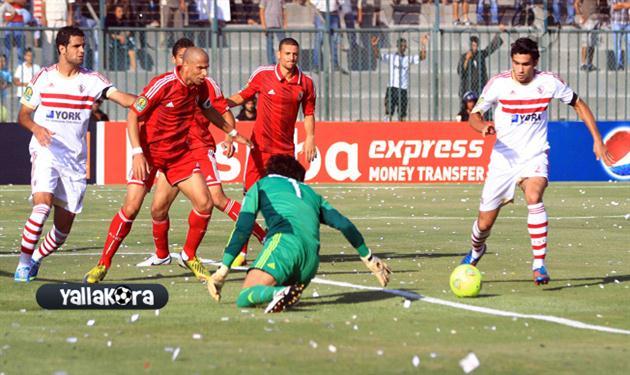 احمد عبد الظاهر في مباراة الاهلى والزمالك