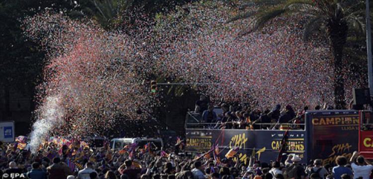 استقبال حافل للبرسا في مدريد