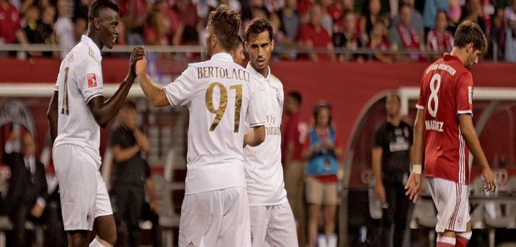 """ميلان يطيح ببايرن ميونخ بالكأس الدولية للأبطال في مباراة """"الأهداف الستة"""""""