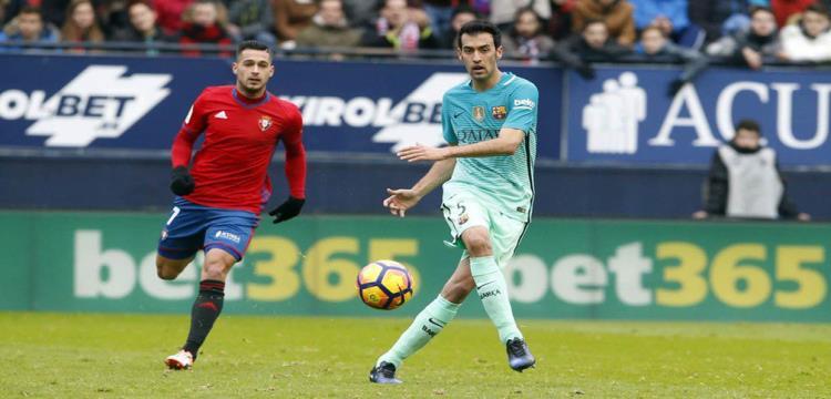 برشلونة يعلن عن مدة غياب بوسكيتس عن الملاعب