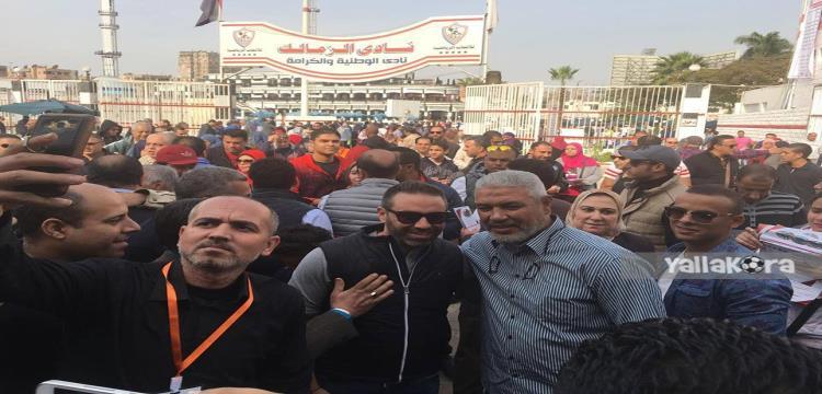 نجوم ومشاهير في انتخابات الزمالك.. إمام ويونس وعبدالحميد يدلون بأصواتهم