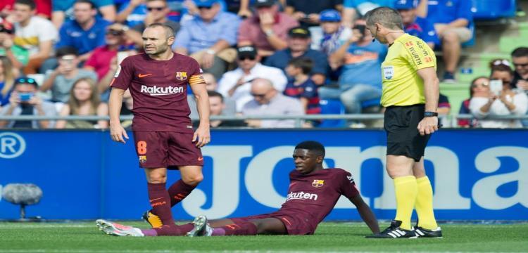 أول مكاسب برشلونة من إصابة ديمبيلي