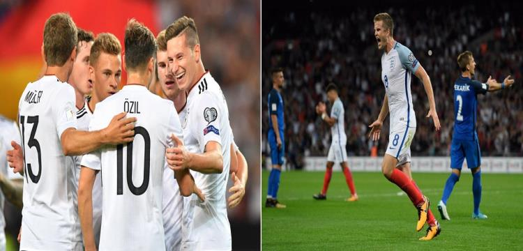 بالفيديو.. انجلترا تفوز على سلوفاكيا.. وألمانيا تسحق النرويج ليقتربا من المونديال