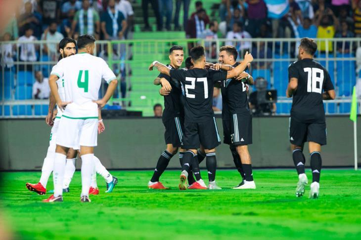 الأرجنتين تهزم العراق برباعية في افتتاح البطولة الرباعية الودية بالسعودية