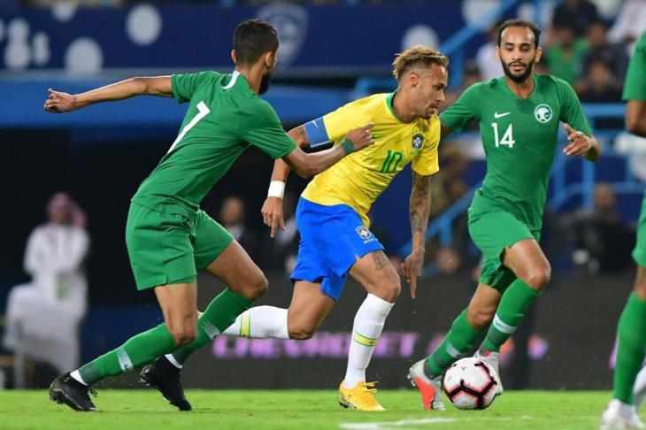البرازيل تفوز على السعودية في الدورة الرباعية الودية