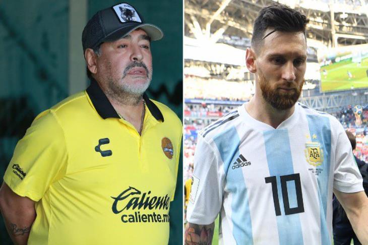 """مارادونا يهاجم ميسي: لا يصلح للقيادة.. يذهب للحمام 20 مرة.. ويفضل الـ""""بلاي ستيشن"""""""