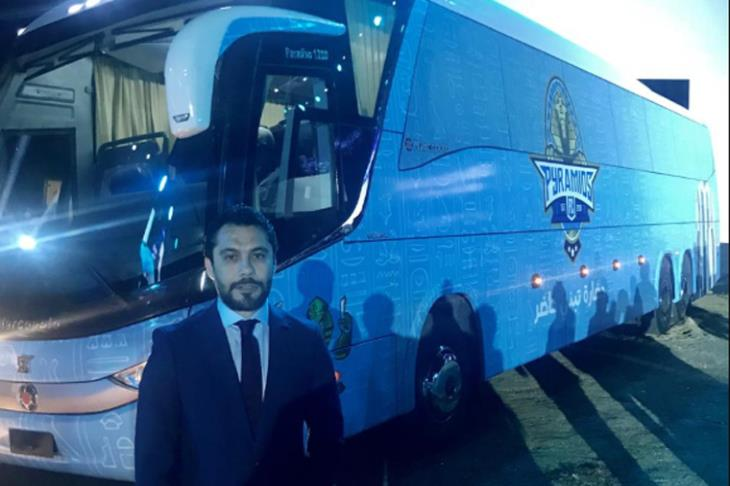 بيراميدز يتسلم حافلته الجديدة في حضور وزاري رسمي