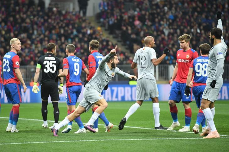 روما يعبر سيسكا موسكو بثنائية ويقترب من دور الـ16 بدوري الأبطال