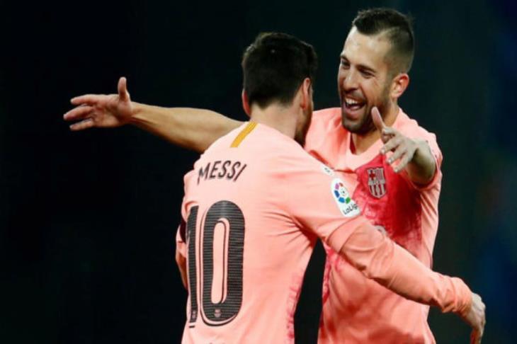 ألبا: ميسي جعلني أفضل لاعب كرة قدم