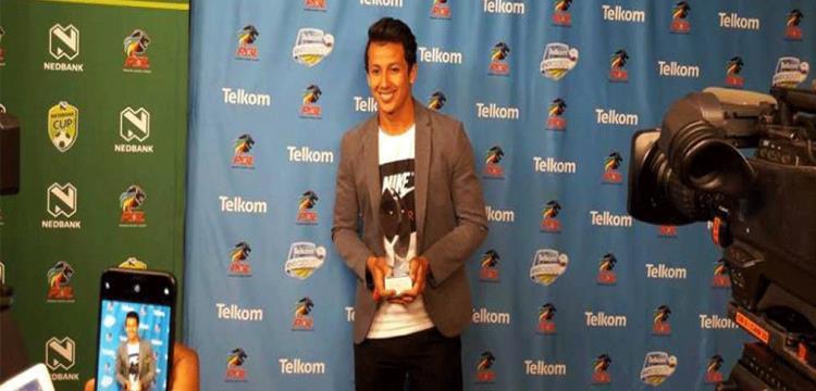 عمرو جمال يتوج بجائزة أفضل لاعب في كأس دوري جنوب أفريقيا