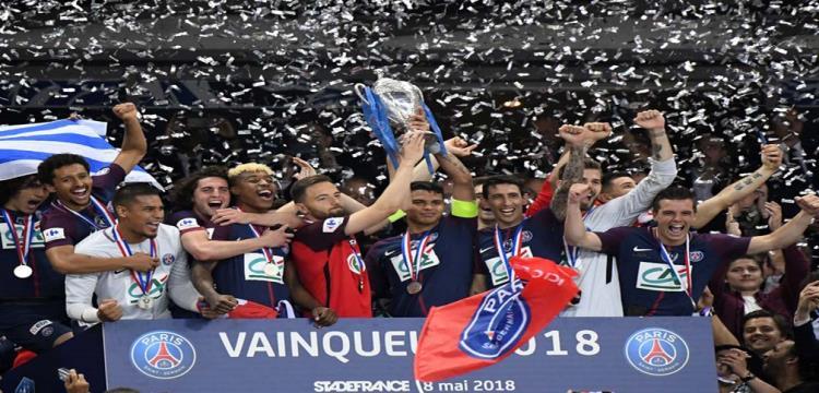 باريس سان جيرمان يتوج بلقب كأس فرنسا للمرة الرابعة على التوالي