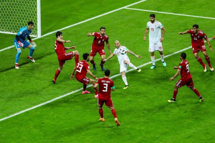 إسبانيا تضرب إيران وتتقاسم صدارة المجموعة الثانية مع البرتغال