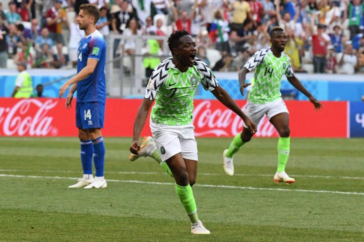 نيجيريا تهزم أيسلندا وتنعش أمال الأرجنتين في كأس العالم