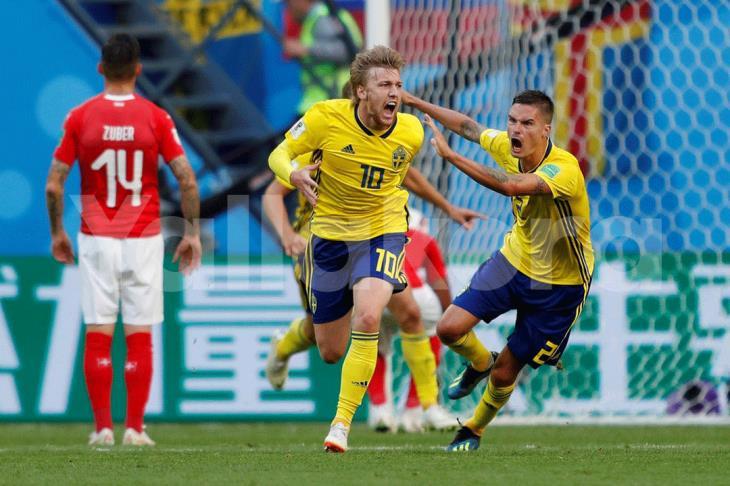 بالفيديو.. السويد تقضي على أحلام سويسرا وتتأهل لربع نهائي المونديال