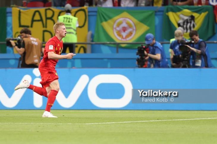دي بروين يفوز بجائزة رجل مباراة بلجيكا والبرازيل