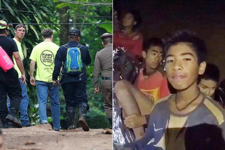 """هل نراهم في نهائي المونديال؟.. بدء انقاذ فريق """"الأطفال"""" المحاصر داخل كهف في تايلاند"""