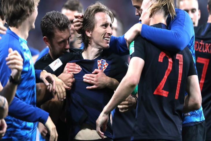 مودريتش رجل مباراة كرواتيا وروسيا