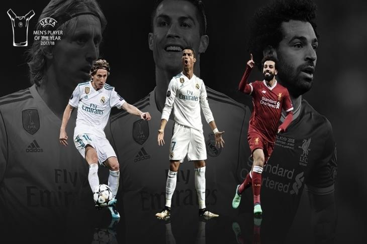 أفضل لاعب في أوروبا.. ماذا قدم صلاح ورونالدو ومودريتش؟