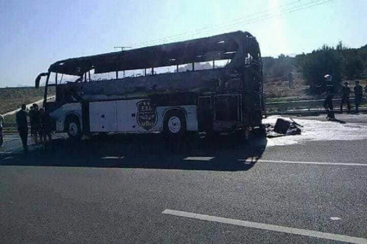 رئيس نادي وفاق سطيف يكشف عن أسباب احتراق حافلة الفريق