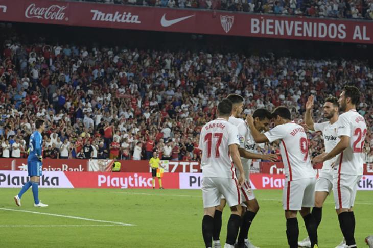 إشبيلية يتعادل مع ريال سوسيداد ويقفز لوصافة الليجا