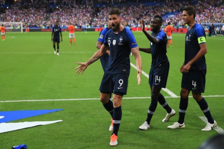 فرنسا تهزم هولندا وتتصدر مجموعتها في دوري الأمم الأوروبية