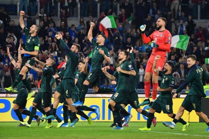 """تقرير.. """"التأهل السريع"""" يمنح إيطاليا فرصة الاستعداد مبكرا ليورو 2020"""