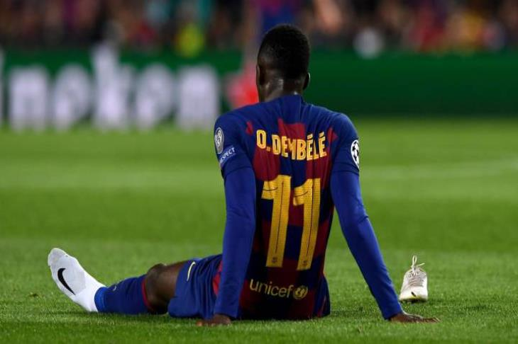 أزمة لا تنتهي.. برشلونة يعلن مدة غياب ديمبلي