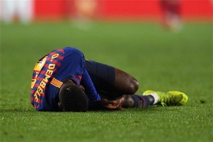 رسميًا.. برشلونة يعلن غياب ديمبلي لمدة شهر