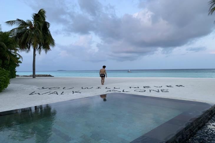 صورة.. صلاح من المالديف: لن تسير وحدك أبدا