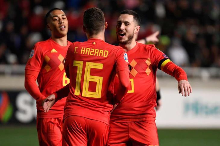 بلجيكا تكتسح كازخستان وتنفرد بصدارة مجموعتها بتصفيات يورو 2020