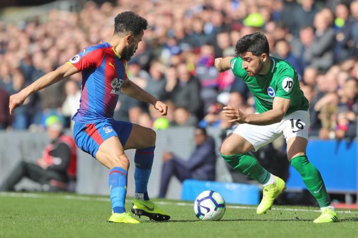 برايتون ينتزع فوزا صعبا من كريستال بالاس في الدوري الإنجليزي