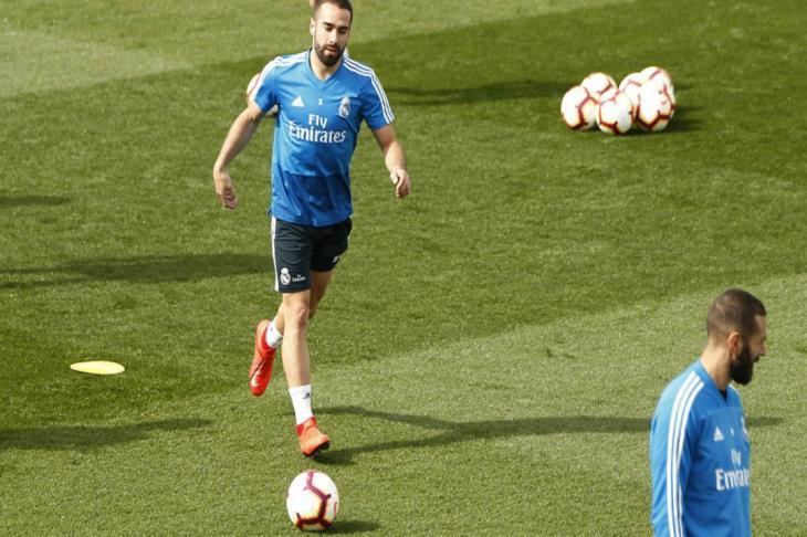 كارفاخال يعود لتدريبات ريال مدريد بعد غياب 41 يوماً