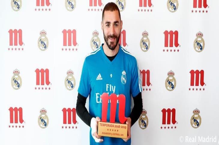 بنزيما يفوز بجائزة لاعب الموسم في ريال مدريد