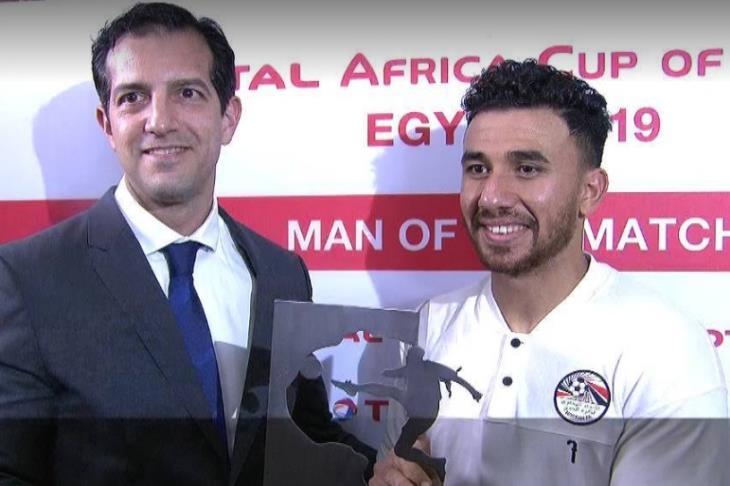 """تريزيجيه """"رجل مباراة"""" مصر والكونغو الديمقراطية"""