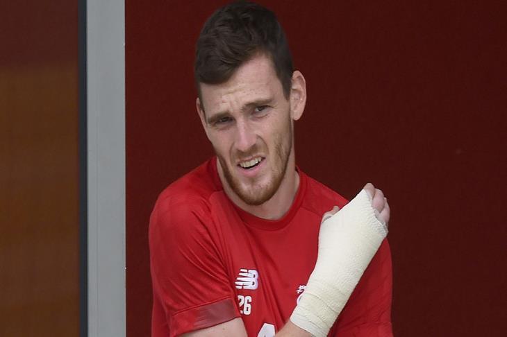 ليفربول يعلن خضوع روبيرتسون لعملية جراحية في يده