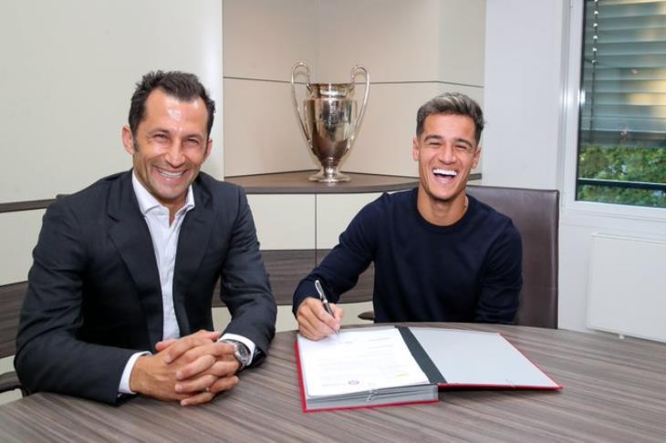 رسميًا.. برشلونة يعلن انتقال كوتينيو إلى بايرن على سبيل الإعارة