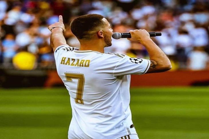هازارد ينضم لأساطير ريال مدريد ويرتدي الرقم 7