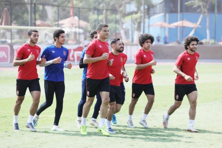 مران الأهلي.. عودة مروان بدون قناع.. ومتولي يواصل التأهيل