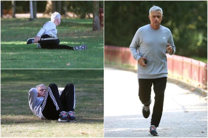 """مورينيو يتأهب للعودة للتدريب بـ """"التمارين البدنية"""""""