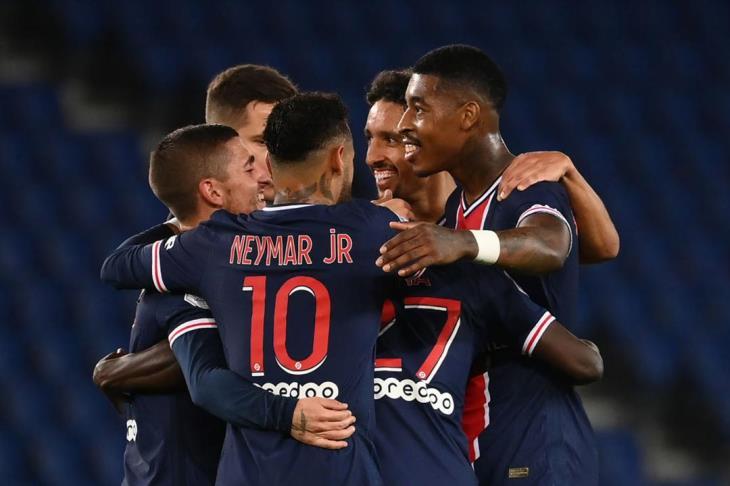 نيمار يقود سان جيرمان للفوز 6-1 على آنجيه في الدوري الفرنسي