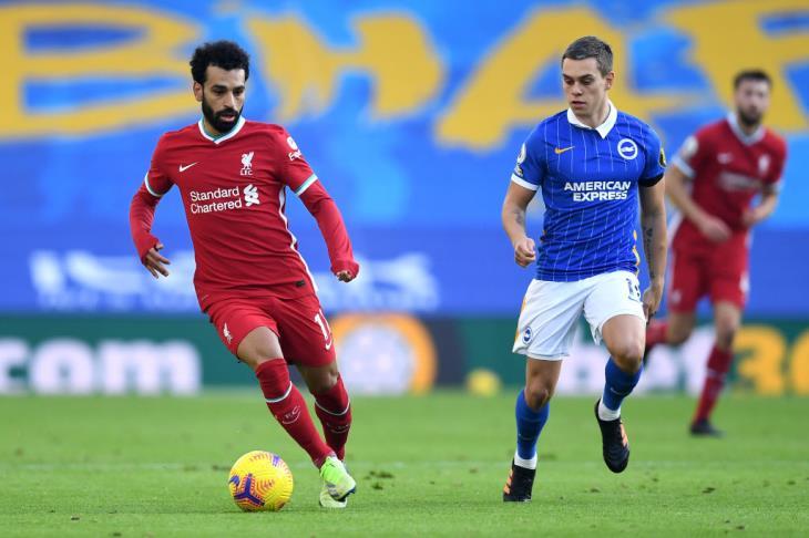 """""""صلاح يصنع"""".. برايتون يخطف تعادلا قاتلا من ليفربول في مباراة الأهداف الملغاة"""