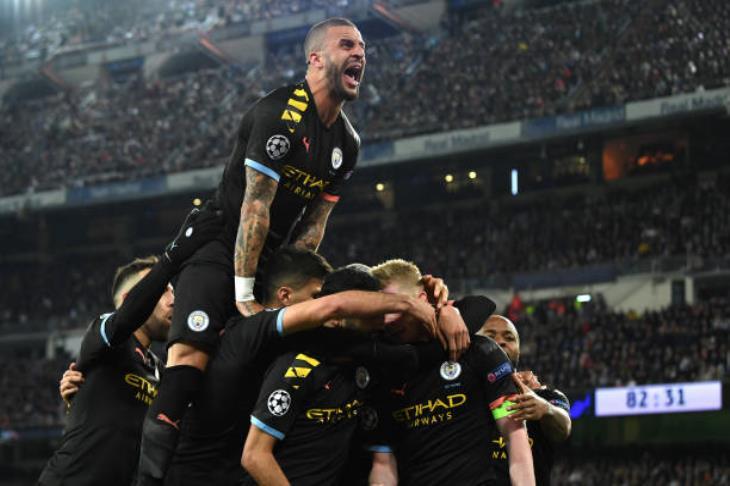 """مانشستر سيتي يخطف فوزاً مثيراً من ريال مدريد """"المنقوص"""" بدوري الأبطال"""