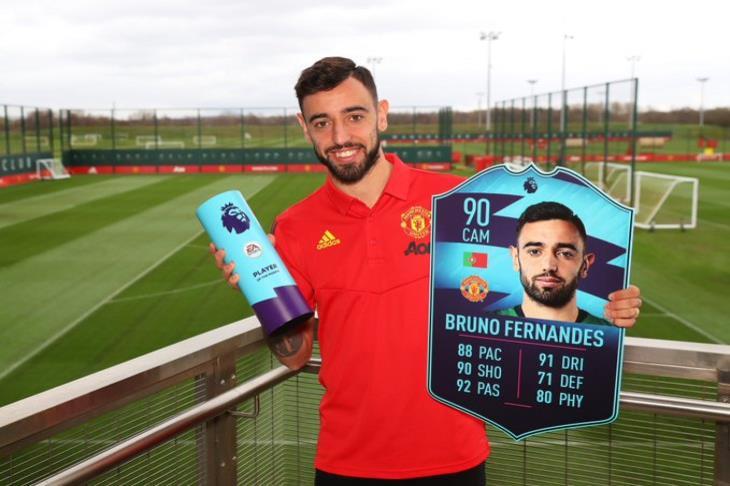 برونو فيرنانديز يفوز بجائزة لاعب الشهر بالبريميرليج