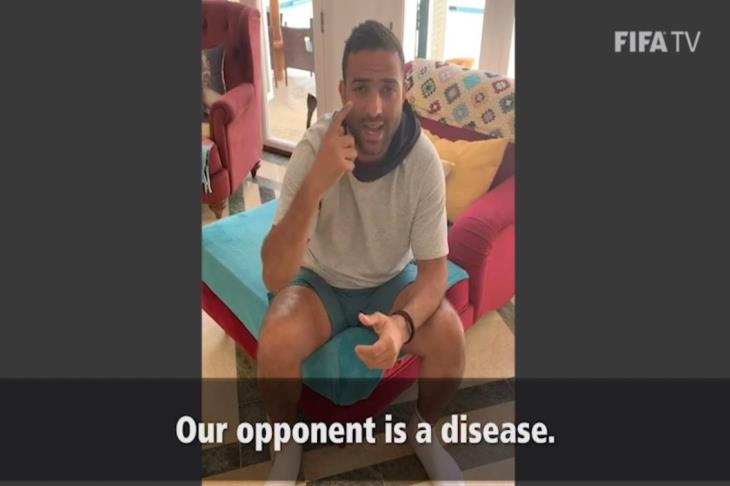 بالفيديو.. ميدو يشارك ميسي في حملة فيفا للتوعية من انتشار كورونا