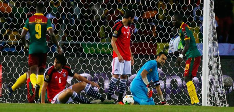 من مباراة مصر والكاميرون