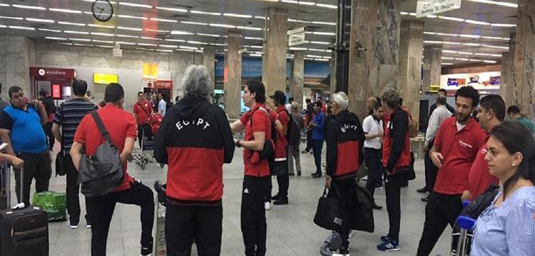 منتخب مصر في مطار القاهرة